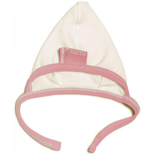 baby girl pink cap organic jersey with non-shafing design