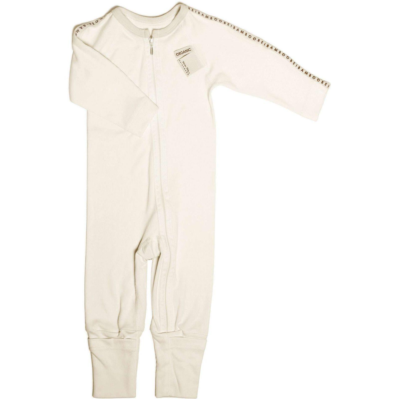 baby jumpsuit with zip, soft bamboo jersey organic cotton.
