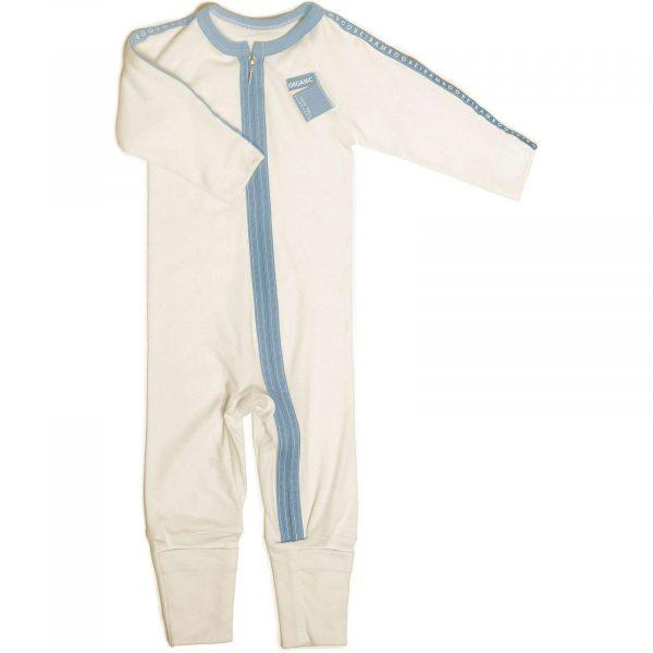 Hypoallergenic Zip All-In-One blue color for sensitive skin