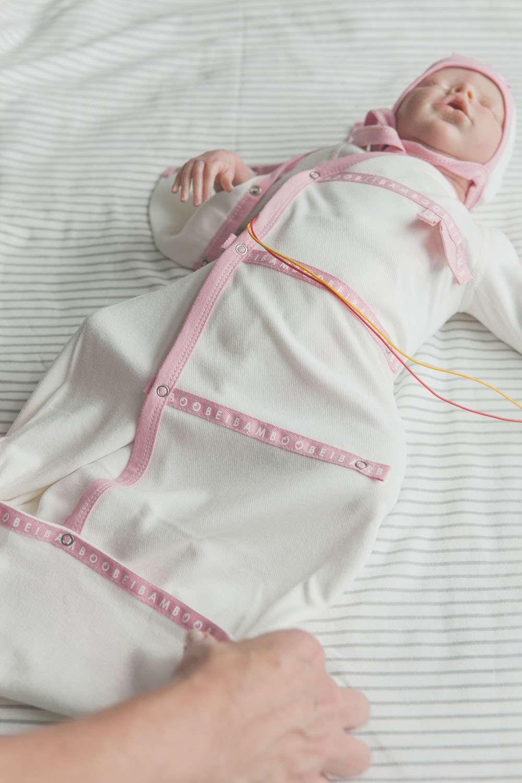 soft cotton Rosa rose Sleep pod organic baby clothing cotton soft